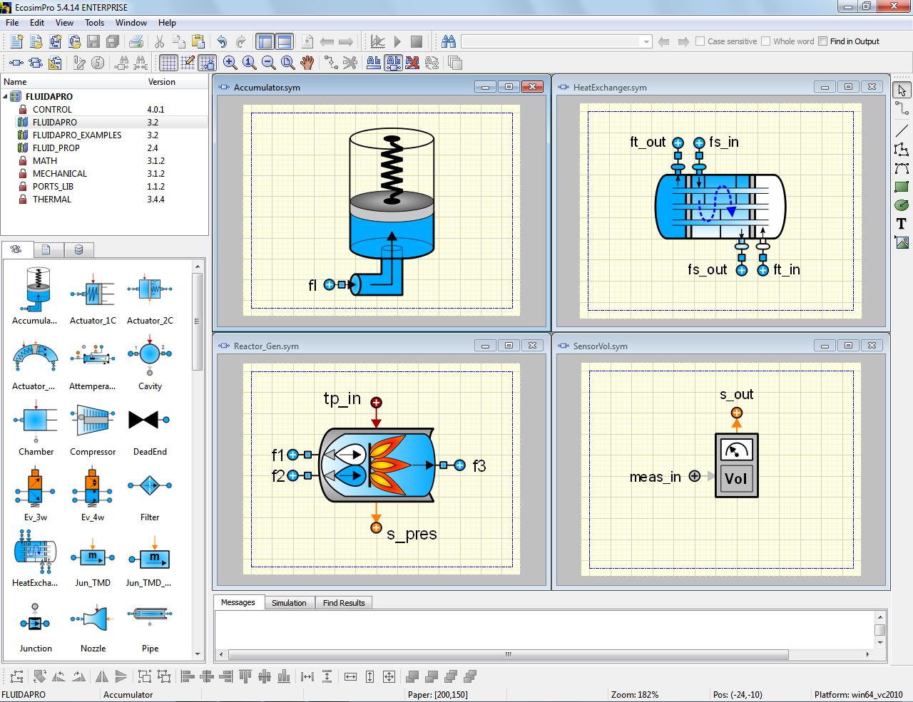 Picture showing EcosimPro symbol editor