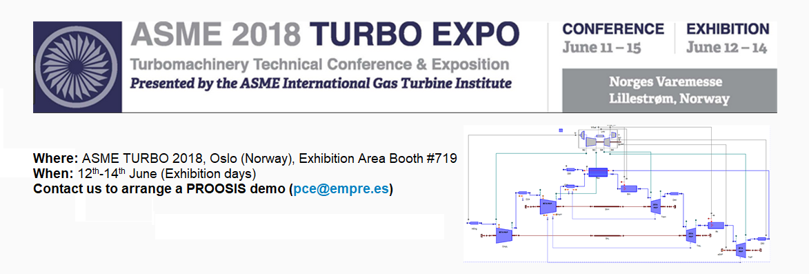 PROOSIS at ASME TURBO EXPO 2018